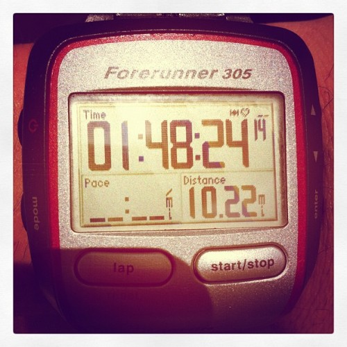 Finished 10 in 1:43:46 shaved over 5 minutes off! (Taken with instagram)