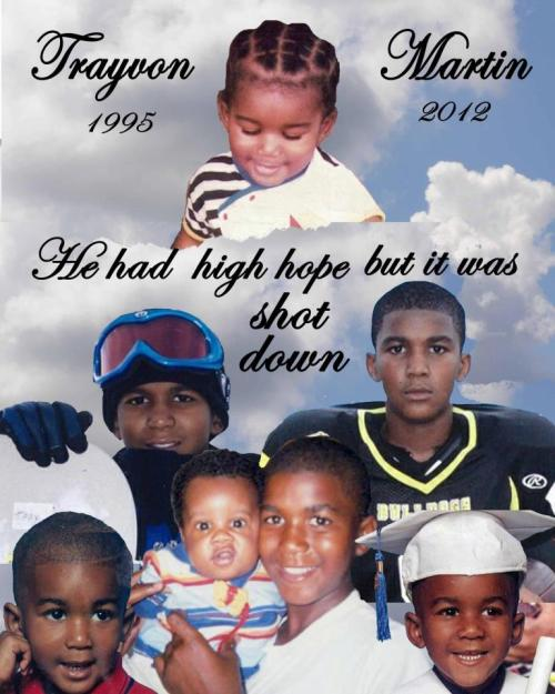 R.I.P Trayvon Martin <3 Reblog TO SHOW RESPECT <3