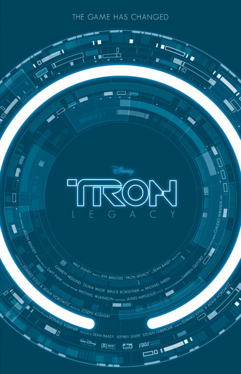 Tron Legacy alternative movie poster designed by Ollie Boyd