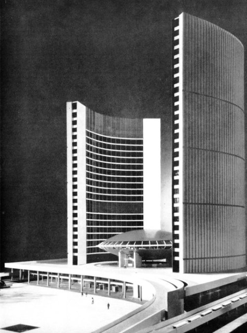 © viljo revell - new toronto city hall - ontario, canada - 1958