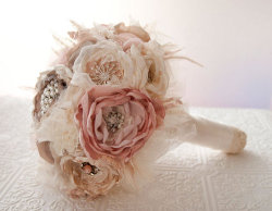 Fabric flower bouquet! So nice.