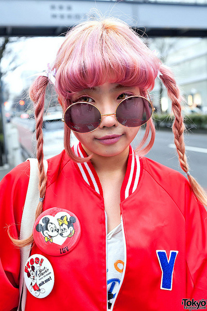 Pink Hair, Harajuku by tokyofashion on Flickr.