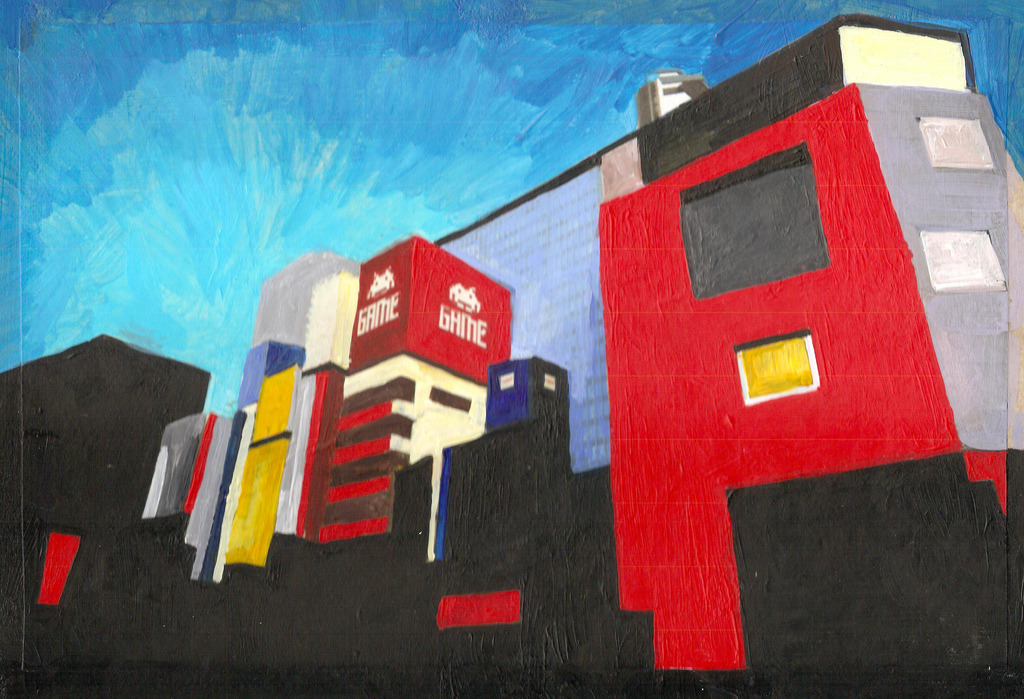 Akihabara Painted with acrylic, 2011