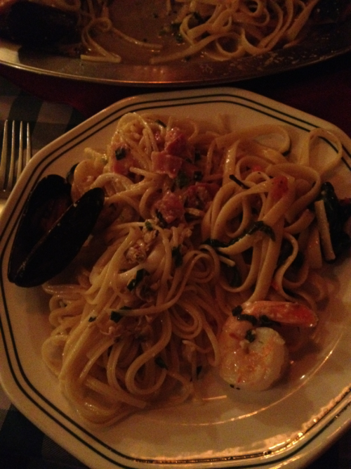 My dinner last night. Three times of pasta!!
