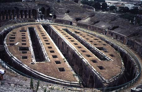 slickbackk:  Whats left of the actual arena of Capua. You can see the cells the gladiators were held in.