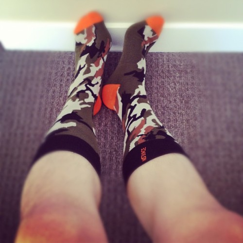 Today is #camo #socks day courtesy of #Foosh #yeg #fashion #menswear (Taken with instagram)