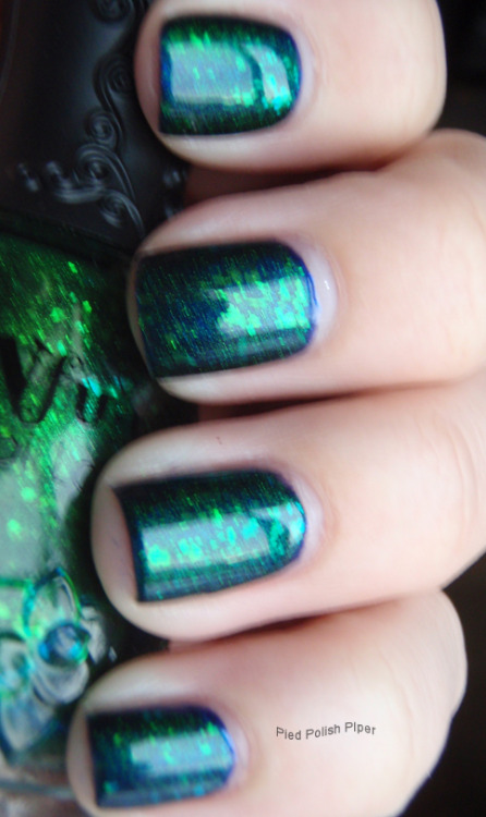 Nfu Oh 56 (1 coat) over Catrice Blues Brothers Vol. II (2 coats)
