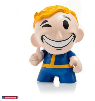 hello-zombie:   Vault Boy Munny by Paul and Katrina Sirmon  mother of god… I want this