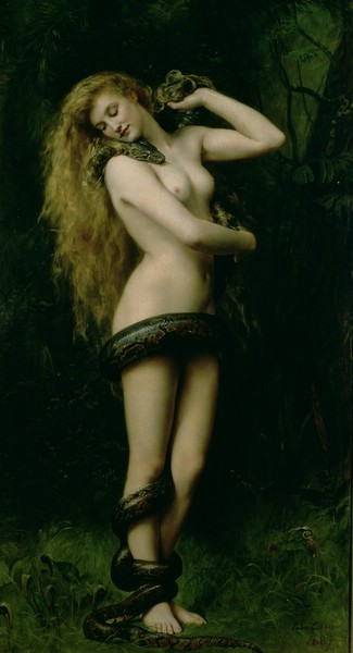 art-yearly:  John Collier Lillith 1887