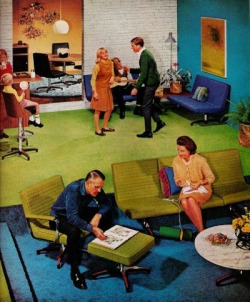 1950sunlimited:  Furniture ad, 1960s