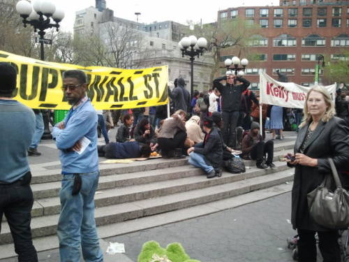 """Reports of my demise have been premature."" #ows @union square nyc #thepeople'sspring"