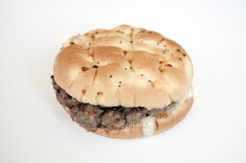 BBQ Swiss Burger on Onion Roll