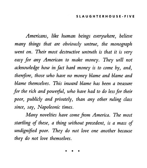 nevver:  Slaughterhouse-Five, or The Children's Crusade, Kurt Vonnegut