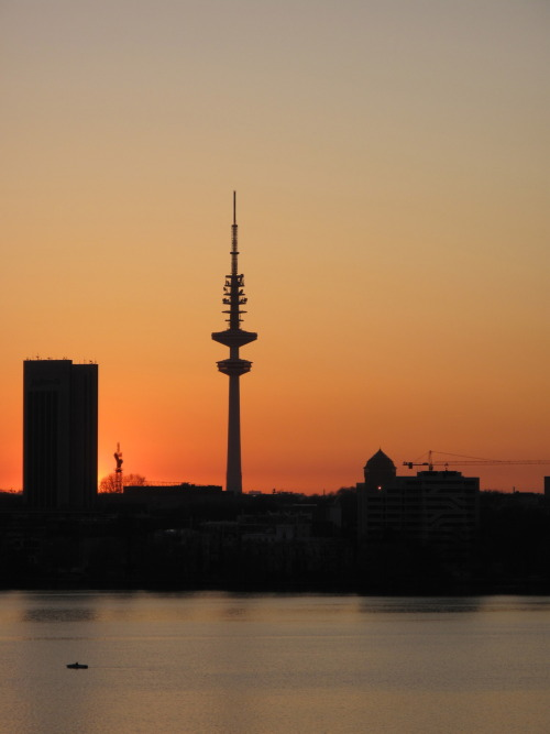 Sunset from St George, Hamburg