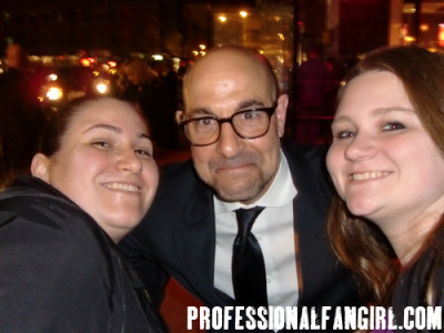 Stanley Tucci & I (& my friend Dana on the left) at The Hunger Games premiere after party in NYC. Read the blog HERE. http://www.professionalfangirl.com