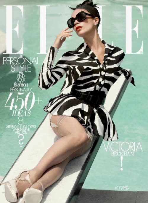 Elle, October 2009, cover (+)  photographer: Tom Munro Victoria Beckham