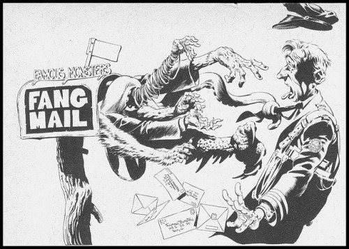Famous Monsters Fang Mail header by Bernie Wrightson