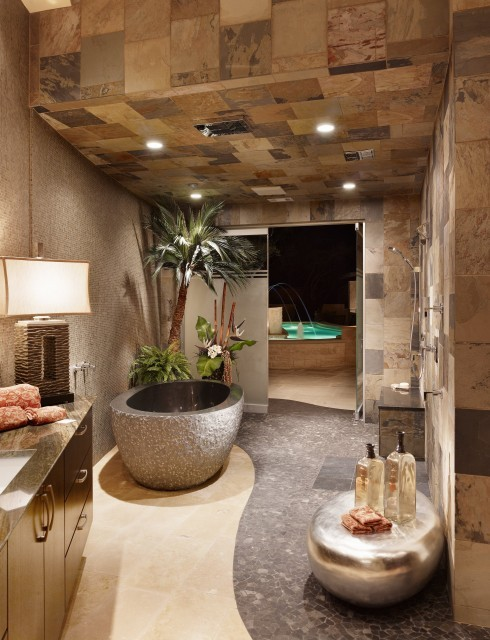 Awesome spa bathroom  (via  Cornerstone Architects)