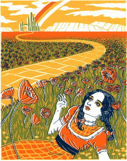 "fuckyeahpsychedelics:  ""Dorothy In The Poppy Field"" by Julia Minamata"