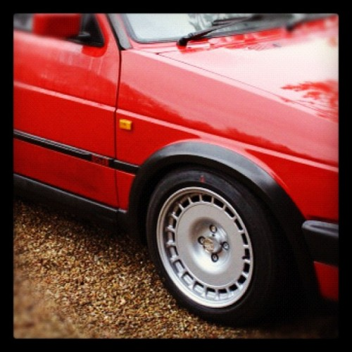 My new mk2 golf #new #car #golf #gti #mk2 (Taken with instagram)