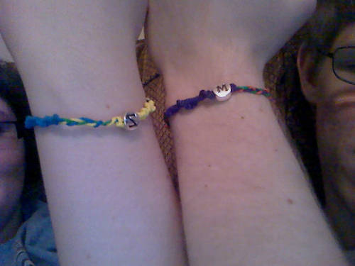 Zach and I made bracelets:)