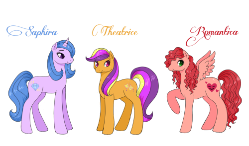 Hello there! My name is Theatrice, and I'm studying at the Canterlot School of Dramatic arts.   I and my friends are here to answer any kind of question that my might have on your mind about the life at the theatre. We live at the theatre, in small student rooms under the theatre. Living and studying here can be very hard, but it's also so much fun!  Short about us Theatrice: Yeah, I'm the one who started this blog so people who wonder how it is to be living and studying at Canterlot School of Dramatic Arts. My dream is to become a musical actress one day. I'm very outgoing, and people often tell me that I talk too much. I usually get the funny parts in a play, not sure if I like that or not… Romantica is my best friend. She is… well romantic.. yeah. She always talk about boys, and the few times where she don't, it's about the latest Romance novel or movie that she's seen. Saphira is the star here. I really mean it. That girl can't do anything wrong it seems like. Saphira is also that kind of friend you don't really know if you should trust. One second she can be in a deep conversation about the problems in your life, and in the next second she's gone talking to some kind of manager… But she can be very sweet, but egosentric.