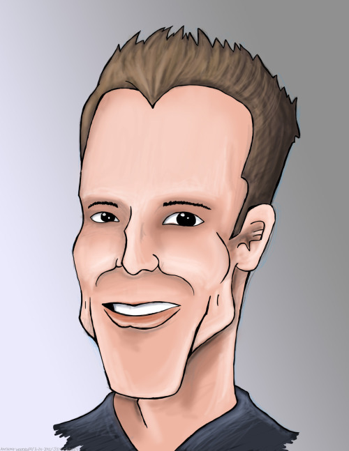 Caricature of Jim Carey.