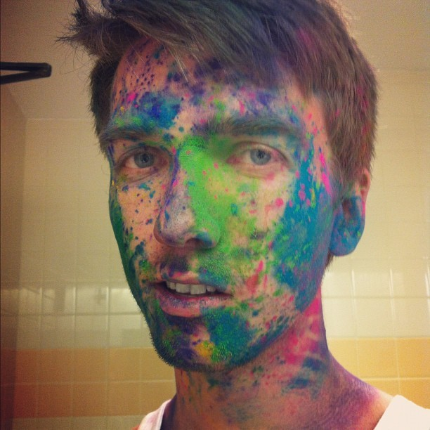 #holi2012 after (Taken with instagram)