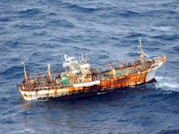"Japanese fishing boat lost in tsunami nears B.C. coastAfter being flushed out to sea by last year's massive tsunami and earthquake, a Japanese squid-fishing boat has drifted across the Pacific Ocean and is now moving in on British Columbia's north coast.The 150-foot ship is drifting right-side-up about 140 nautical miles (260 kilometres) from Cape Saint James on the southern tip of Haida Gwaii, formerly known as the Queen Charlotte Islands.""It's been drifting across the Pacific for a year, so it's pretty beat up,"" said marine search coordinator Jeff Olsson of the Joint Rescue Coordination Centre. (Photo: Department of National Defence)"