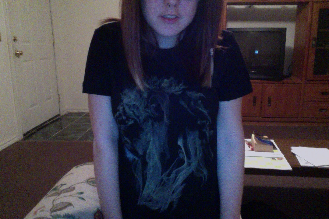 You can't really see it buuuut it's a Lion Fumes shirt from Threadless. Coolest shirt in my life. Click here to look at it better. Totally got it for $9.99 and now it's back up to $20. Hell yes.