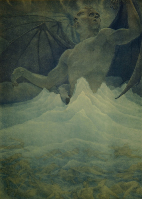 zdank:  Dante's Satan at the Frozen Lake of Cocytus, Amos Nattini 1923