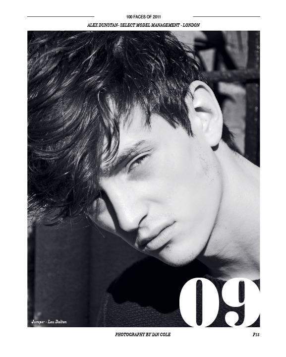Archive: Alex Dunstan at Select Model Management for 100 Faces of 2011