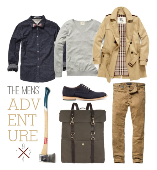 lylaandblu:  The Mens' Adventure by Lyla & Blua bit challenging to fit in the looks of all our city dwellers, the mountain climbers, the young folk. This classy fit thrives with many a situation, making the versatilitya key part to the wear & wearer. So, whether you are drafting up those red-lines, drinking dry whiskey, or cuffing up those Levis to cross a river; this outfit will do you the favor of remaining comfortable, classy and useful.  Inspired by our good gentlemen; OhPioneer! LostinAmerica, ThinkNorth, YoungFolkSociety, JaredTomas, GtheGentlemen,ManwithaSpade, AnchorDivision & WilliamValle