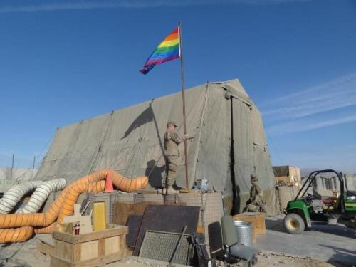 Gay Photo Of The Week: Afghanistan Pride Flag At US Base