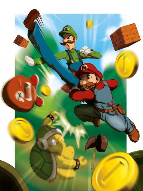 Artwork : Mario et Luigi xombiedirge:  How Many Times Have We Done This? by Tovio Rogers / Website