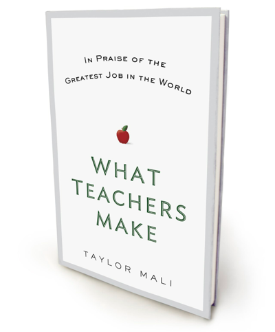 Taylor Mali's newest book, What Teachers Make, will be released on March 29. It is available for pre-order at Amazon, Barnes & Noble, Books-a-Million, and IndieBound.