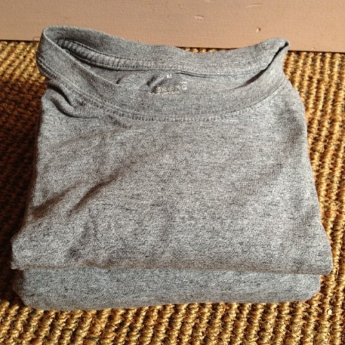 Packing for a 2 day interstate trip - Global Financial Crisis approved MUJI t/shirts (Taken with Instagram at My Crib)