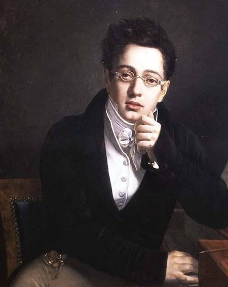 vcrfl:  Portrait of a young man with glasses by Josef Abel, about 1814–18, perhaps an early portrait of Franz Schubert.