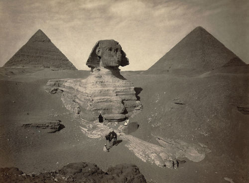 octopusgirl:  The Great Sphinx partially excavated.