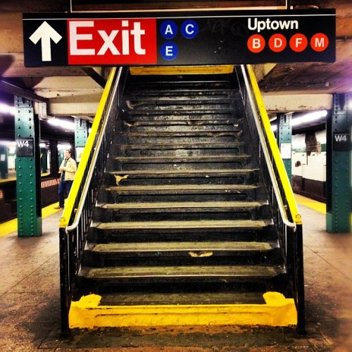 Taken with Instagram at MTA Subway - W 4th St (A/C/E/B/D/F/M)