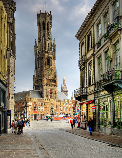 | ♕ |  Belfry Tower of Bruges, Belgium  | by © Wolfgang Staudt | via ysvoice