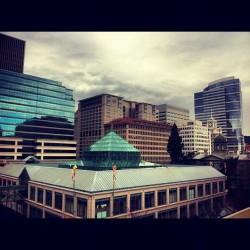 #portland #oregon #spring #city #urbanlandscapes #clouds #instagram #iphone4 #rosecity #stumptown #bridgecity #ripcity #jj #pdx #springbreak #hometown #portlandia #pnw #northwest #usa  (Taken with Instagram at Pioneer Place)
