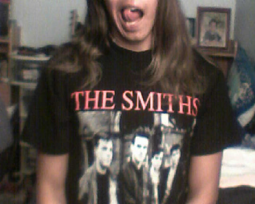 I also got this Smiths shirt in LA. It was about time yo. oh and that's kindergarden me in the background. haha.