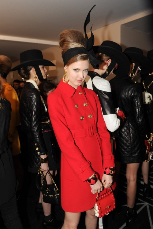 fashion-ocd:  Moschino Fall 2012 Backstage