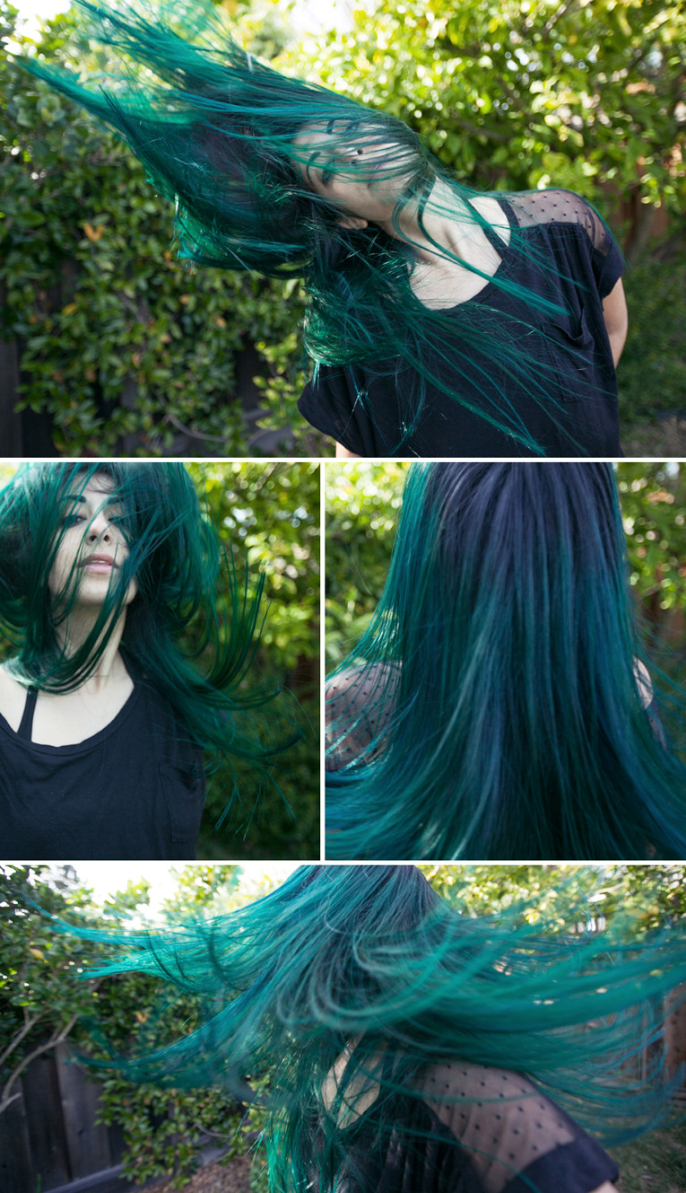 ≈ AQUAMARINE DREAM ≈ My springtime hair by Sarah Collins.