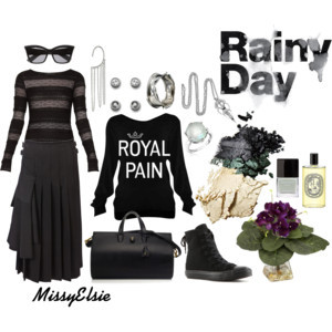 Rainy Day by missyelsie featuring a pleated skirt