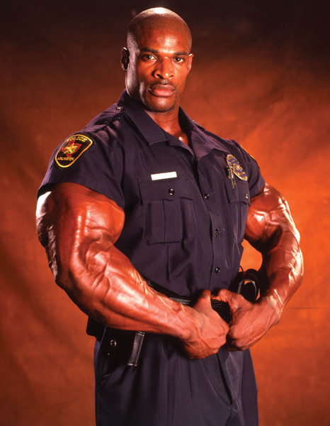 8x Mr Olympia and former police officer Ronnie Coleman!