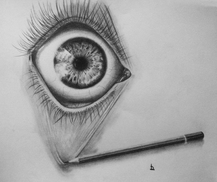 Eye Study with pencil
