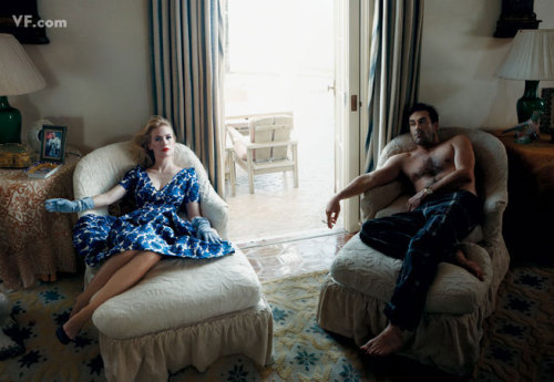 bohemea:  January Jones & Jon Hamm - Vanity Fair by Annie Leibovitz, September 2009