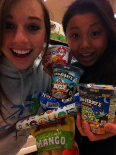 Midnight run to Safeway with Jenna #winning